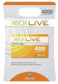 xbox point card
